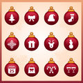 Christmas icons a vector illustration of icon sets Stock Photography