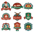 Christmas icons a vector illustration of retro icon designs Stock Photography