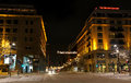 Christmas illumination of street in Berlin Stock Photo