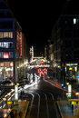 Christmas illuminations Friedrichstrasse Royalty Free Stock Photo