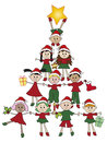 Christmas illustration for with children Royalty Free Stock Photos