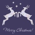 Christmas ilustration with deers elegant vector illustration Royalty Free Stock Image