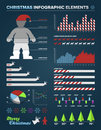 Christmas Infographic design elements Royalty Free Stock Image