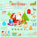 Christmas infographic illustration of with holiday object Stock Images
