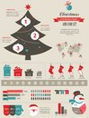 Christmas infographic set with charts and data elements Stock Photography
