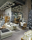 Christmas interior in luxuty dubai mall uae october Royalty Free Stock Photos