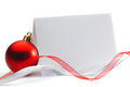 Christmas Invitation Royalty Free Stock Photo