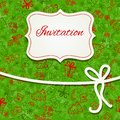 Christmas invitation card hand draw Royalty Free Stock Photos