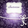 Christmas invitation card hand draw Royalty Free Stock Image