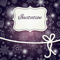 Christmas invitation card hand draw Royalty Free Stock Photo