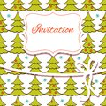 Christmas invitation card hand draw Stock Image