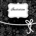 Christmas invitation card hand draw Stock Photos