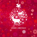 Christmas Invitation card template. EPS 8 Royalty Free Stock Images