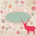 Christmas Invitation card template. EPS 8 Stock Photo