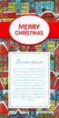 Christmas invitation card vector illustration Stock Photo