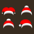 Christmas isolated vector red caps