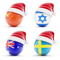 Christmas in Israel, China ,sweden,Australia Stock Photo