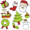 Christmas item set an image of items Stock Images