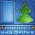 Christmas Jeans Texture Stock Photo