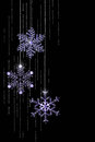 Christmas Jeweled Snowflakes Stock Photos