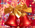 Christmas Jingle Bells Red - Stock Photo Stock Images