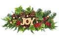 Christmas Joy Decorative Display Royalty Free Stock Photo