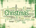 Christmas keywords a vector illustration of various related Royalty Free Stock Photo