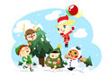 Christmas kids character Stock Photo