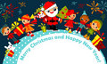 Christmas kids. greeting card Royalty Free Stock Photos