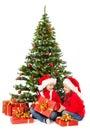 Christmas Kids In Santa Hat Un...
