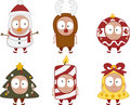 Christmas kids set 2 Royalty Free Stock Photo