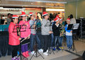 Christmas kids singing event in telford plaza december located kowloon bay hong kong number of from different district of Royalty Free Stock Photo