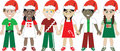 Christmas Kids United 3 Royalty Free Stock Images