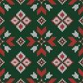 Christmas knitted pattern. Geometric abstract seamless pattern.