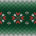 Christmas knitted pattern. Geometric abstract seamless pattern.