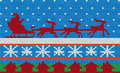 Christmas knitted surface Royalty Free Stock Photography