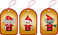 Christmas labels Royalty Free Stock Photography