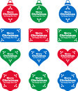 Christmas labels and decorations this is a set of different Royalty Free Stock Images