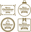 Christmas labels and decorations this is a set of different Royalty Free Stock Photography