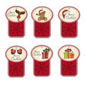Christmas labels set Royalty Free Stock Photos