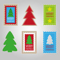 Christmas labels set of six Stock Images