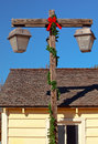 Christmas Lamp Post Old San Diego Royalty Free Stock Photos