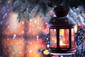 Christmas Lantern Stock Photo