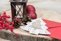 Christmas lantern and decoration Royalty Free Stock Photo