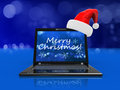 Christmas laptop Stock Image