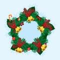 Christmas leaf Royalty Free Stock Photo