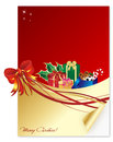 A christmas letter special merry Royalty Free Stock Image