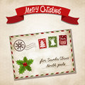 Christmas letter vector illustration for to santa claus Stock Photo