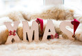 Christmas letters Royalty Free Stock Image