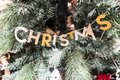 Christmas letters in a Christmas tree